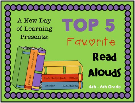 A New Day Of Learning Top 5 Read Alouds
