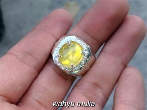 batu cincin yellow opal cat eye asli kode 786 wahyu mulia