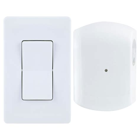 light switch with outlet ge wireless remote wall switch light control with grounded