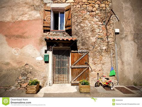 front door   mediterranean village house royalty  stock images image