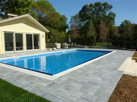 concrete pool designs ideas completed inground swimming pools landscaping