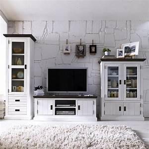 Wohnzimmer Schrankwand Landhausstil
