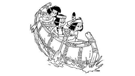 indianer kostüm für kinder ausmalbilder yakari indianer im boot 01 ausmalbilder