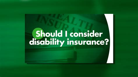 Should You Consider Disability Insurance?