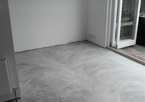 Sealed Concrete Floor by Project Microcement Flooring Richmond Residential