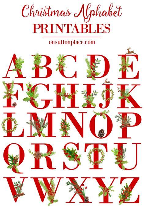 christmas alphabet printables  sutton place