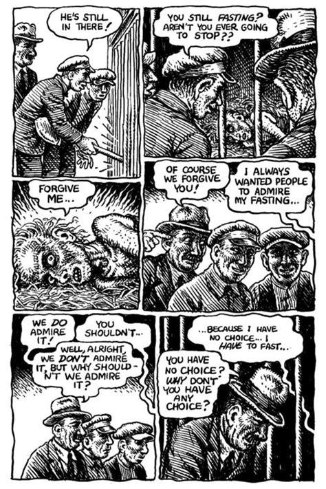hunger a novel r crumb illustrates kafka robert crumb caricatures and