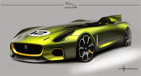 Jaguar D-type Design Sketch By Alan Derosier