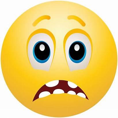Scared Emoji Face Clip Clipart Emoticon Faces