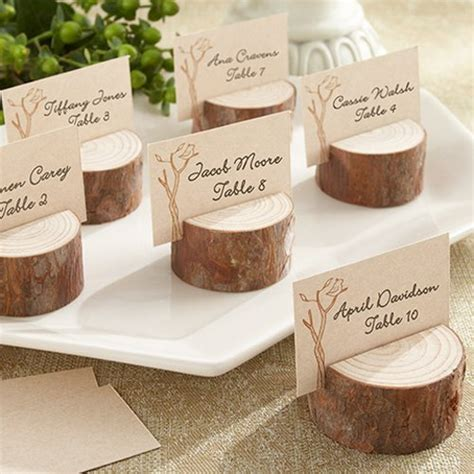 pine cone place card holders for rustic rustic wood place card photo holders