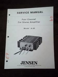 Jensen Service Manual For The A