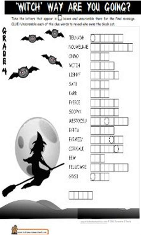 grade halloween printable worksheets festival