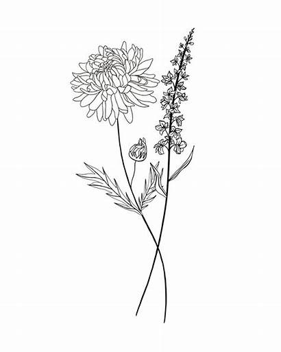 Tattoo Birth Month Bouquet Flower Chrysanthemum Flowers