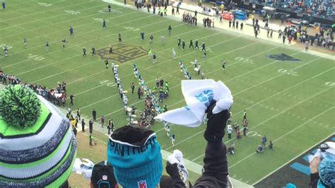 divisional playoff introductions panthers  seahawks