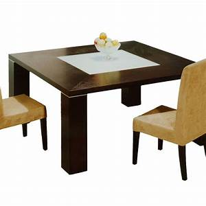 Elite square dining table wenge dining tables for Square dining table