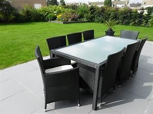 Salon De Jardin Table : table jardin resine tressee table metal jardin ~ Teatrodelosmanantiales.com Idées de Décoration