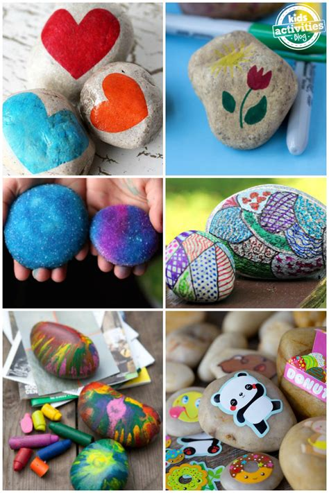 crazy fun rock decorating ideas  kids