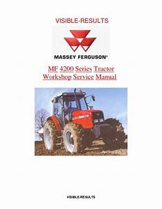 Massey Ferguson Mf 4225 Tractor Service Repair Manual