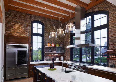 brick cuisine 74 stylish kitchens with brick walls and ceilings digsdigs