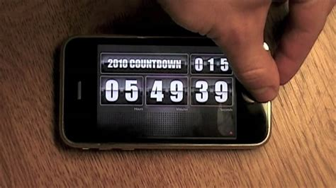 countdown app iphone 2010 countdown app iphone flip clock youtube Count