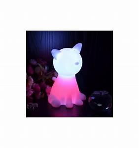 Lampe De Chevet Sans Fil : lampe de chevet led veilleuse en forme de chat sans fil ~ Dailycaller-alerts.com Idées de Décoration