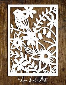 personal use papercutting template flower garden paper With paper cut out art templates