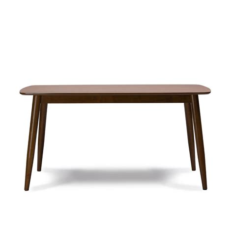 modern mid century solid wood dining table kitchen