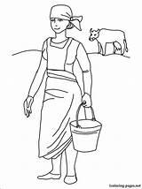 Coloring Milkmaid Printable Career Fans sketch template