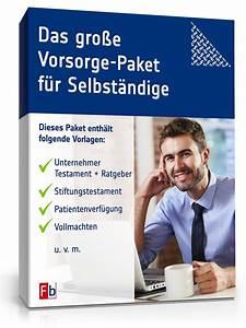 Vorsorgevollmacht Ohne Notar Gültig : das gro e vorsorge paket f r selbstst ndige vorlagen zum download ~ Orissabook.com Haus und Dekorationen