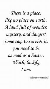 Alice In Wonderland Quotes | Coutez, Larges Inpirational ...