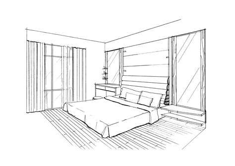 Drawing A Bedroom In Perspective by Perspective Drawing Bedrooms Hoppmuch Id Renobuild Pte