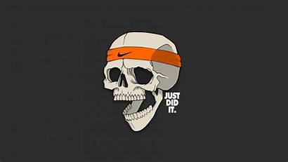 Nike Skull Background Mouth Open Simple Gray