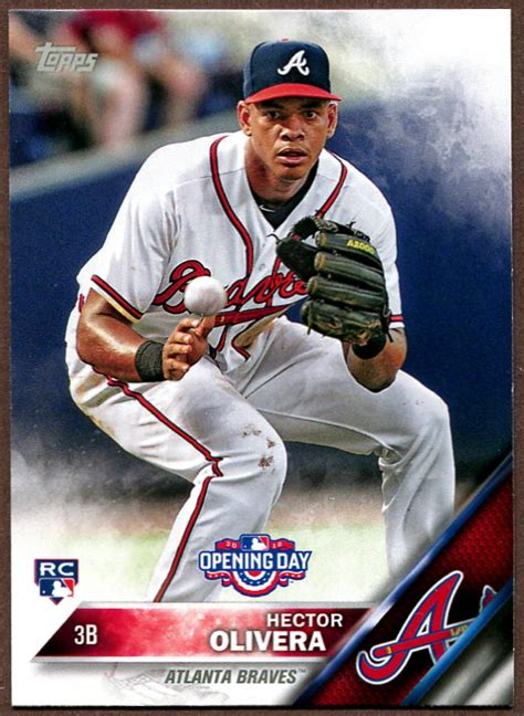 2016 Topps Opening Day Atlanta Braves Baseball Cards Team Set