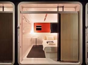 Japanese Hotel Pods