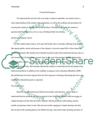 special education case study  topics