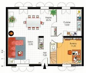 Plan Maison A Etage : pavillon classique d tail du plan de pavillon classique faire construire sa maison ~ Melissatoandfro.com Idées de Décoration