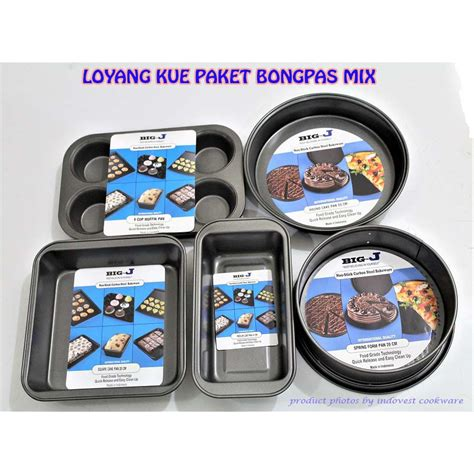 paket aneka loyang teflon pc loyang teflon paket bongpas mix shopee indonesia