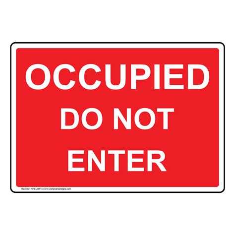 occupied   enter sign nhe