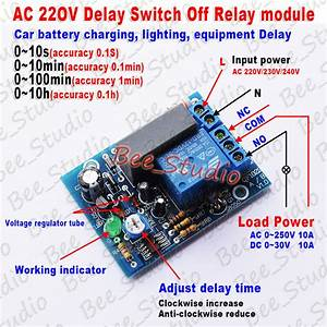 Ac 220v 230v Adjustable Timer Delay Switch Turn Off Time