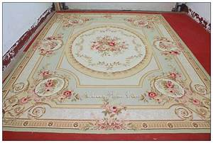 9x12 pastel green ivory pink aubusson area rug carpet With markise balkon mit tapete vintage chic