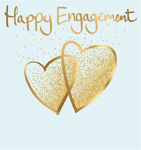Happy Engagement Hearts…Glitterati | Cards Galore