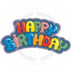 Happy Birthday Sign Cartoon