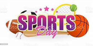sports day banner vector illustration text with sport