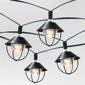 20ct solar metal lantern outdoor light set threshold With target outdoor lights on sale
