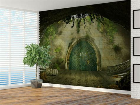 Fantasy cave - castle inside photo Wallpaper wall mural ...