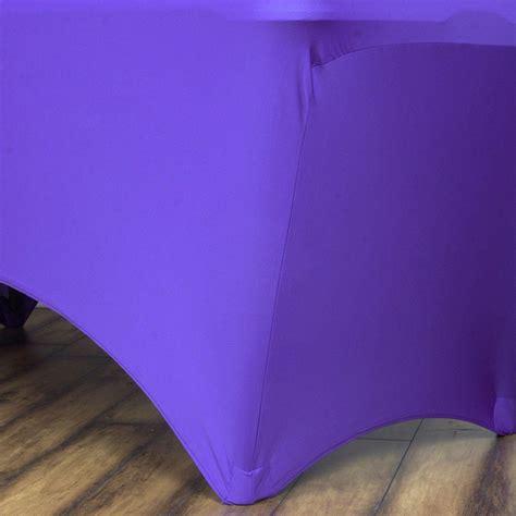 ft rectangular spandex table cover purple