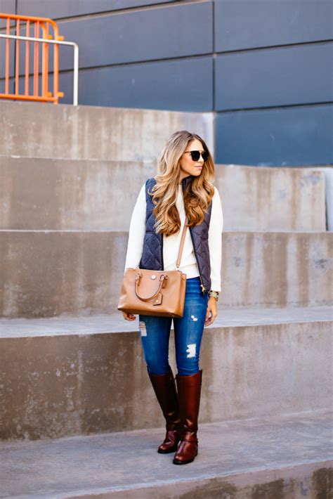 Quilted Vest And Riding Boots The Teacher Diva A Dallas