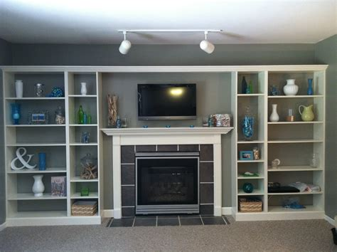 bookcases that look built in faux built in billy bookcase ikea hack hearthavenhome