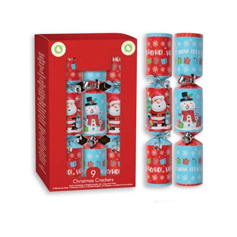 Santa & Snowman Christmas Crackers 20cm / 8 in - Pack of 9 ...