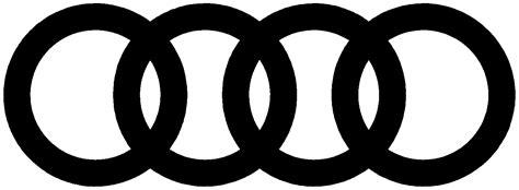 audi logo black and white audi rings logo png www pixshark com images galleries